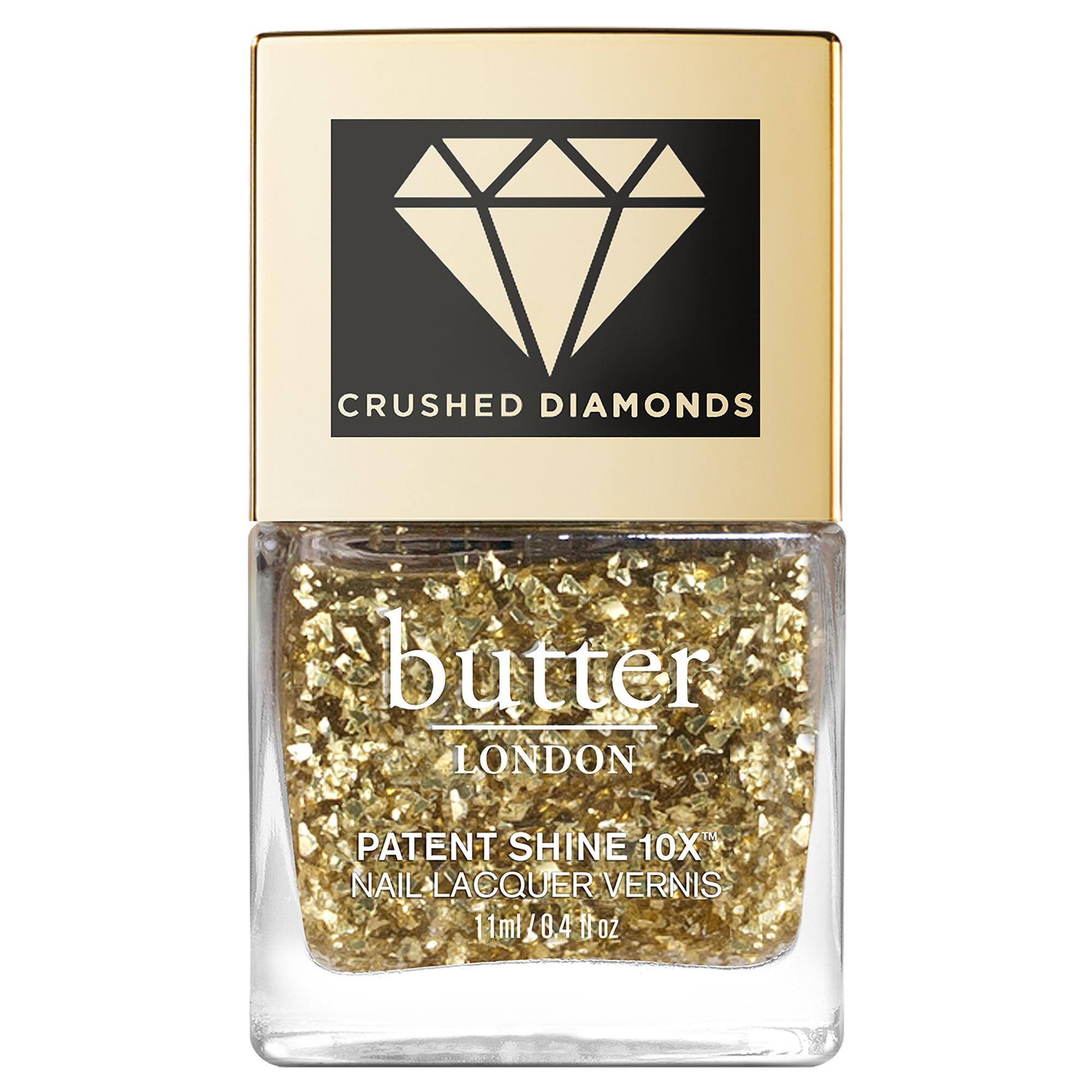 24K Crushed Diamonds Patent Shine 10X™ Nail Lacquer