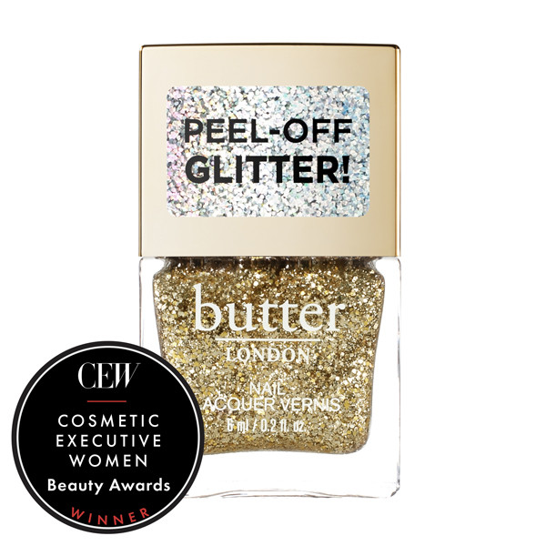 Gold Rush Glazen™ Peel-Off Glitter Mini Nail Lacquer