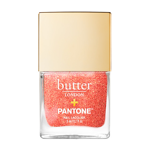 Living Coral Glazen™ Peel-Off Glitter Mini Nail Lacquer