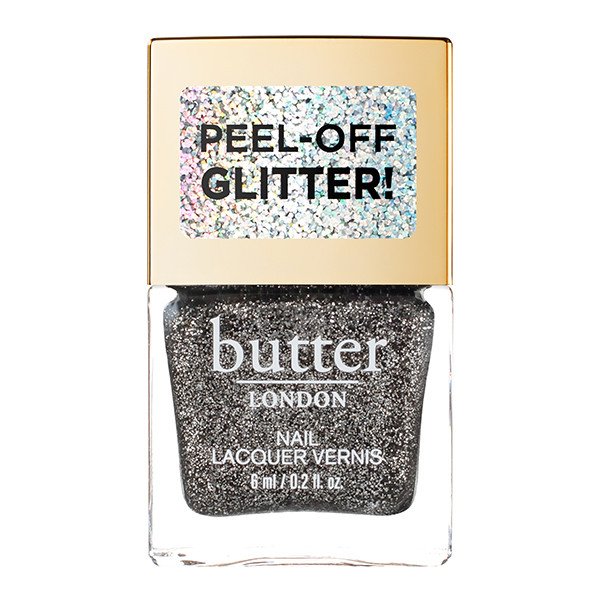 Black Magic Glazen™ Peel-Off Glitter Mini Nail Lacquer