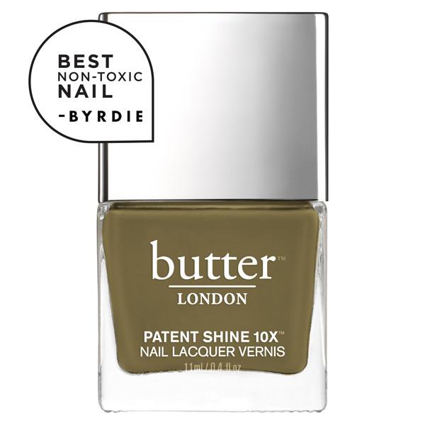 British Khaki Patent Shine 10X Nail Lacquer