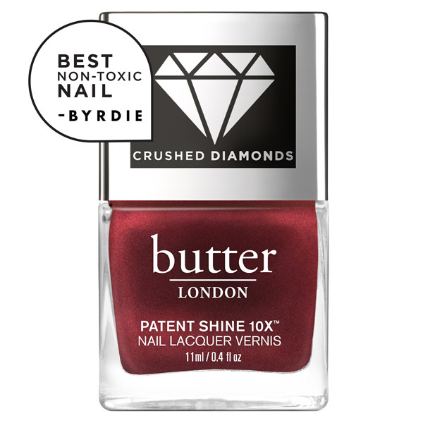 Red Diamond Crushed Diamonds Patent Shine 10x Nail Lacquer