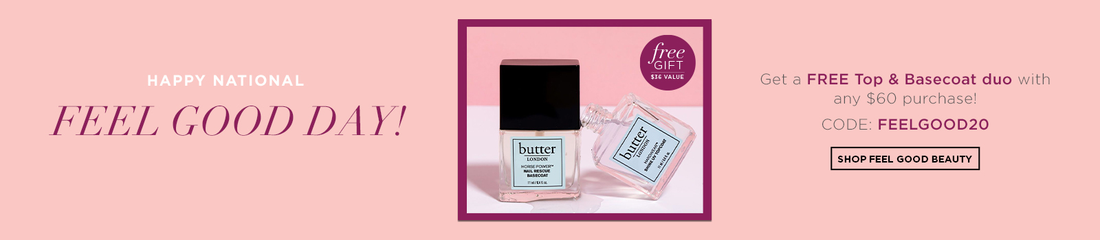 FREE Top and Base Coat Duo with $60